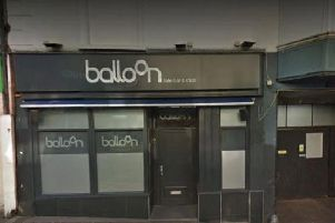The incident happened at Balloon Bar in Bridge Street on Sunday morning.