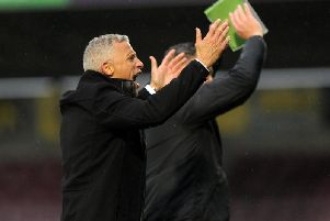 Cobblers boss Keith Curle has been able to celebrate victories in each of the team's past two home games