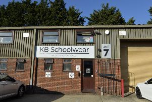KB Schoolwear on the Diplocks industrial estate in Hailsham (Photo by Jon Rigby) SUS-190919-105950008