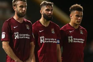 Did any of Cobblers' fringe players force their way into Keith Curle's thinking? Pictures: Pete Norton