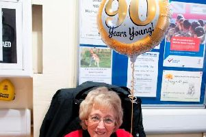 Gillian is a much-loved volunteer at the town's hospital.