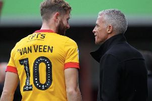 Keith Curle and Kevin van Veen