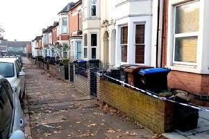 A house in Stimpson Avenue has been cordoned off following the stabbing on Tuesday night
