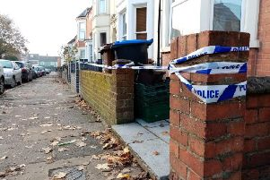 A house in Stimpson Avenue remains taped off