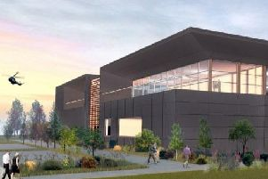 An artist's impression of the new Racing Point HQ at Silverstone