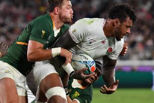 Courtney Lawes played the first 40 minutes for England