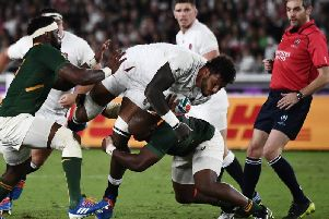 Courtney Lawes was in action for England in the World Cup final