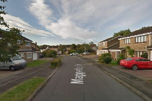 The car crashed into a house on Mapperley Drive, Northampton. Photo: Google