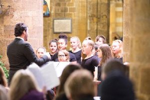 The Training Choir from the Northamptonshire Music and Performance Arts Trust at the World Day of Remembrance service in 2018