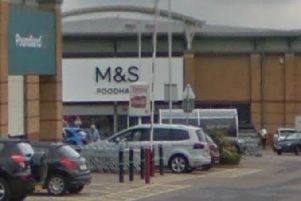 M&S Foodhall was broken into overnight by two men with sledgehammers.