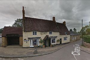 The stabbing took place outside the Royal Oak pub in Blisworth on Friday night.