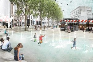 An artist's impression of how Market Square in Northampton could look. Photo: Northampton Forward