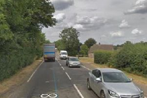 The A508 in Roade. Image: Google.