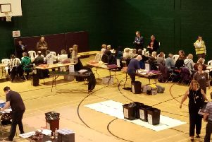 The election county for Northampton North and South is underway at Lings Forum.