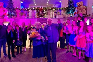Ken and Doreen Ridley cut the ribbon for The Old Savoy's launch