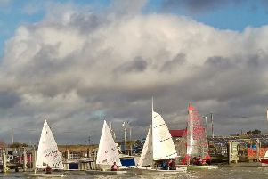 Rum Race under way on the River Rother (Photo courtesy of Richard Morley.)