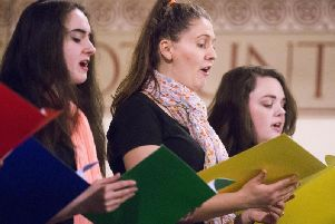 Choir singers at the Holocaust Memorial Day event at the Guildhall in 2018
