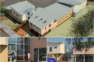 Artist's impressions of how the new medical centre in Byfield would look