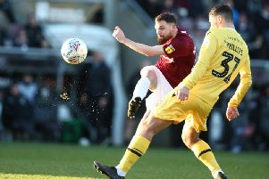 Paul Anderson celebrated his new contract by starring in the win over Morecambe