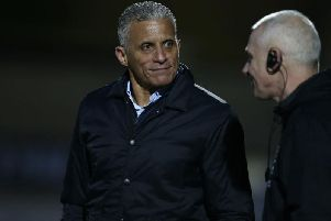 Keith Curle with David Kelly