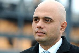 Sajid Javid was the star guest at a black-tie dinner for Northamptonshire's Conservatives.