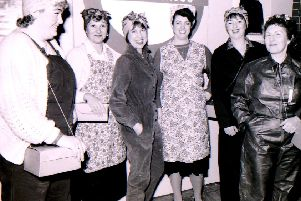 Land Army Girls in Cranwell Singers' production of Christmas Games and Fighter Planes in 1993. EMN-181130-094328001