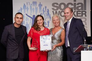 Sian Miljkovic at The Social Worker of the Year awards 2018