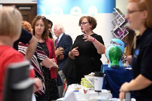 Attendees at the chamber's Business Exhibition in September.