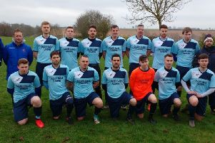 Kettering Nomads Reserves, who play in Division Two of the Northants Combination, pose for the camera. Nomads first-team are looking to make it through to the NFA Junior Cup final this weekend