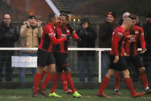 Aaron O'Connor grabbed the only goal as Kettering Town beat Royston Town last weekend. The Poppies are now gearing up for a top-of-the-table showdown at Stourbridge tomorrow. Picture by Peter Short