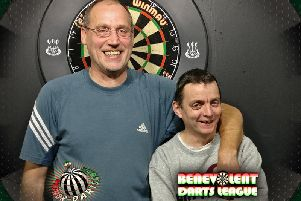 Division-one singles winner Richard Ragless and runner-up Dave Owens