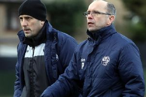 Andy Peaks was left slightly disappointed after AFC Rushden & Diamonds were held to a 1-1 draw by Banbury United at Hayden Road. Pictures by Alison Bagley