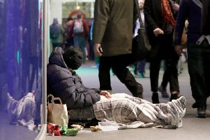 According to government figures the number of people sleeping rough in Corby rose by 600 percent from four in 2017 to 28 in 2018.