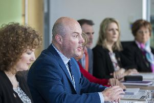 Council leader Matt Golby announcing a decision to raise council tax by five percent today.