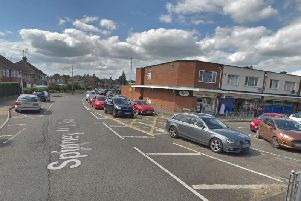 The incident took place in Spinney Hill Road on Saturday.