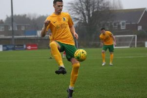 Kieran Lavery netted Horsham's first-half goal. Picture by John Lines