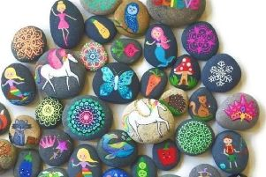 Some of the stones which have been hidden.