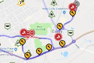 Corby has been hit by a glut of roadworks during recent months