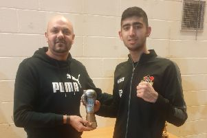 The Three Sixty Accountants Best Boxer award went to Hasnain Ahmed for his excellent performance against Agustine Turoczy.