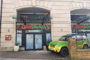 Work is under way at the old Chimichanga restaurant.