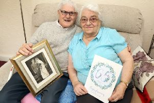 65th Anniversary: Kettering: Keith and Mary Whitmarsh were married on March 6th 1954 at St Andrew's Church Kettering. They met when they both worked at Loakes shoe factory in Kettering. 'Monday, March 3rd 2019 NNL-190403-202719009