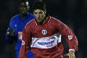 LONDON - 2 OCTOBER:  Matthew Brazier of Leyton Orient on the ball during the Worthington Cup Second Round match between Leyton Orient and Birmingham City at the Matchroom Stadium in London on October, 2002. (photo by Ian Walton/Getty Images) NNL-190803-142915005