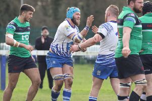 Tom Lewis celebrates scoring a try for the Lions. Picture: Mick Sutterby