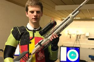 Michael now competes against sighted shooters having dominated British VI shooting circles EMN-190313-141244002