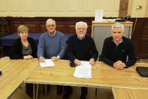 Signing of legal formation documents for Thame Community Land Trust.