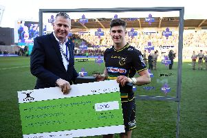 James Grayson is the Premiership Rugby Cup breakthrough player of the season