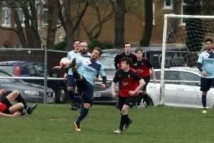 Chris Di Fante grabbed the winner for Kettering Nomads in their 1-0 success at S&L Kingswood. Pictures by Alison Bagley