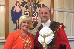The mayor and mayoress of Kettering, James and Lorraine Burton.