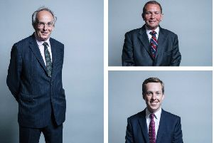 Clockwise from left: Peter Bone, Philip Hollobone and Tom Pursglove