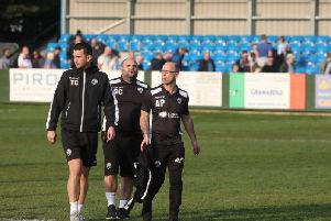 Andy Peaks insists AFC Rushden & Diamonds still have a shot at the play-offs after their 0-0 draw with Royston Town at Hayden Road. Pictures by Alison Bagley